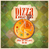 Retro pizza menu card design. Royalty Free Stock Photos