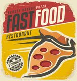 Retro pizza sign royalty free illustration