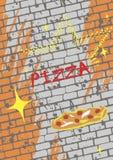 Retro pizzameny royaltyfria bilder