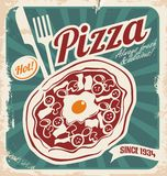 Retro pizzeria poster Stock Images