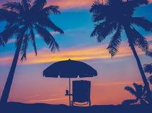 Retro Plażowy parasol Obraz Stock
