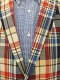 Retro plaid suit coat Stock Images