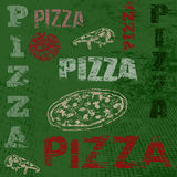 Retro- Plakat der Pizza Stockbilder