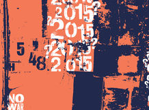 Retro- Plakat in der Schmutzart mit typografischen Zeichen Auch im corel abgehobenen Betrag Lizenzfreie Stockfotos
