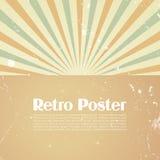 Retro- Plakatschablone Lizenzfreies Stockfoto