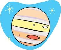 Retro Planeet Jupiter Royalty-vrije Stock Afbeelding