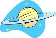 Retro Planeet Saturnus Stock Afbeeldingen