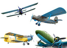 Retro planes. Isolated on white background, collection Stock Images
