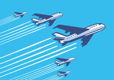 Retro planes Royalty Free Stock Images