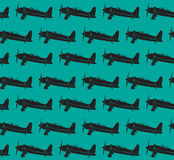 Retro planes pattern. EPS10  image 0092 Stock Photos
