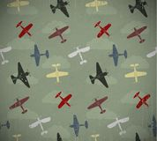 Retro planes. Retro seamless war planes pattern. EPS10 vector image Stock Photos