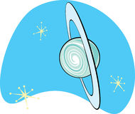 Retro Planet Uranus Stock Image