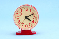 Retro plastic clock Royalty Free Stock Images