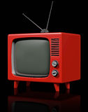 Retro plastic TV Stock Image
