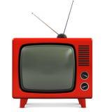 Retro plastica TV Immagini Stock