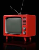 Retro plastica TV Immagine Stock