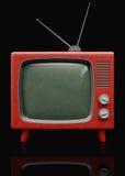 Retro- Plastik-Fernsehapparat Stockfotos