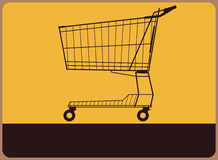 Retro plate with cart Royalty Free Stock Images