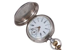 Retro pocket watch with a chain Royalty Free Stock Images