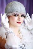 Retro podlotka styl Zdjęcia Royalty Free