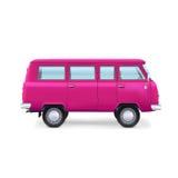 Retro podróż samochód dostawczy na białym tle Obraz Royalty Free