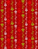 Retro Poinsettia Background Stock Images