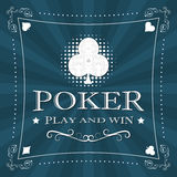 Retro poker  background with card symbol and ornate frame Stock Photo