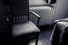 Retro pokoju hotelowego krzesło Zdjęcia Royalty Free