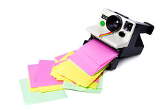 Retro Polaroid Cam Stock Photo