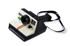 Retro Polaroid Cam. On a white background royalty free stock photos