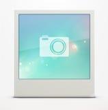 Retro polaroid photo frame. Vector illustration of blank retro polaroid photo frame over soft background Royalty Free Stock Photos