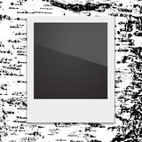 Retro Polaroid photo frame on the background of Royalty Free Stock Photography