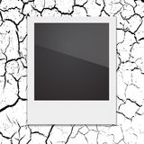 Retro Polaroid photo frame on the background Stock Photography