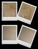 Retro polaroid photo frames isolaten on black Stock Photography