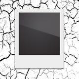 Retro- polaroidfotorahmen auf dem Hintergrund Stockfotografie
