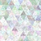 Retro poli fondo basso geometrico del modello del triangolo Fotografie Stock