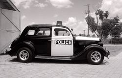 Retro police car Royalty Free Stock Images