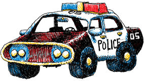 Retro Police Car Royalty Free Stock Photos