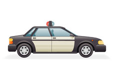 Retro Police Car Icon  Realistic 3d Design Vector Illustration Royalty Free Stock Images