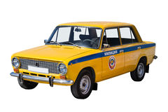 Retro police car Stock Image