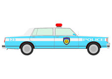 Retro police car. Royalty Free Stock Photo