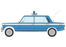 Retro police car. Stock Image