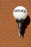 Retro Police Sign Stock Image