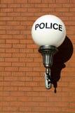 Retro Police Sign Stock Image