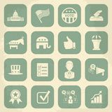 Retro political election campaign icons set. Vector illustration. This file was saved as EPS 10 Royalty Free Stock Photo