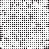 Retro Polka di semitono in bianco e nero Dots Mess Background Pattern Texture di lerciume illustrazione vettoriale