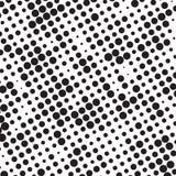Retro Polka di semitono in bianco e nero Dots Mess Background Pattern Texture di lerciume illustrazione di stock