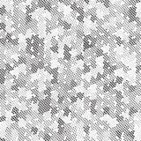 Retro Polka di semitono in bianco e nero Dots Mess Background Pattern Texture di lerciume royalty illustrazione gratis