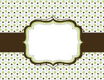 Retro polka dot background Stock Images