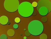 Retro Polka Dots. Chocolate brown & retro green splattered polka dot pattern Royalty Free Stock Images